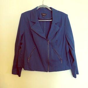 Blue moto jacket. Lane Bryant. Size 18.